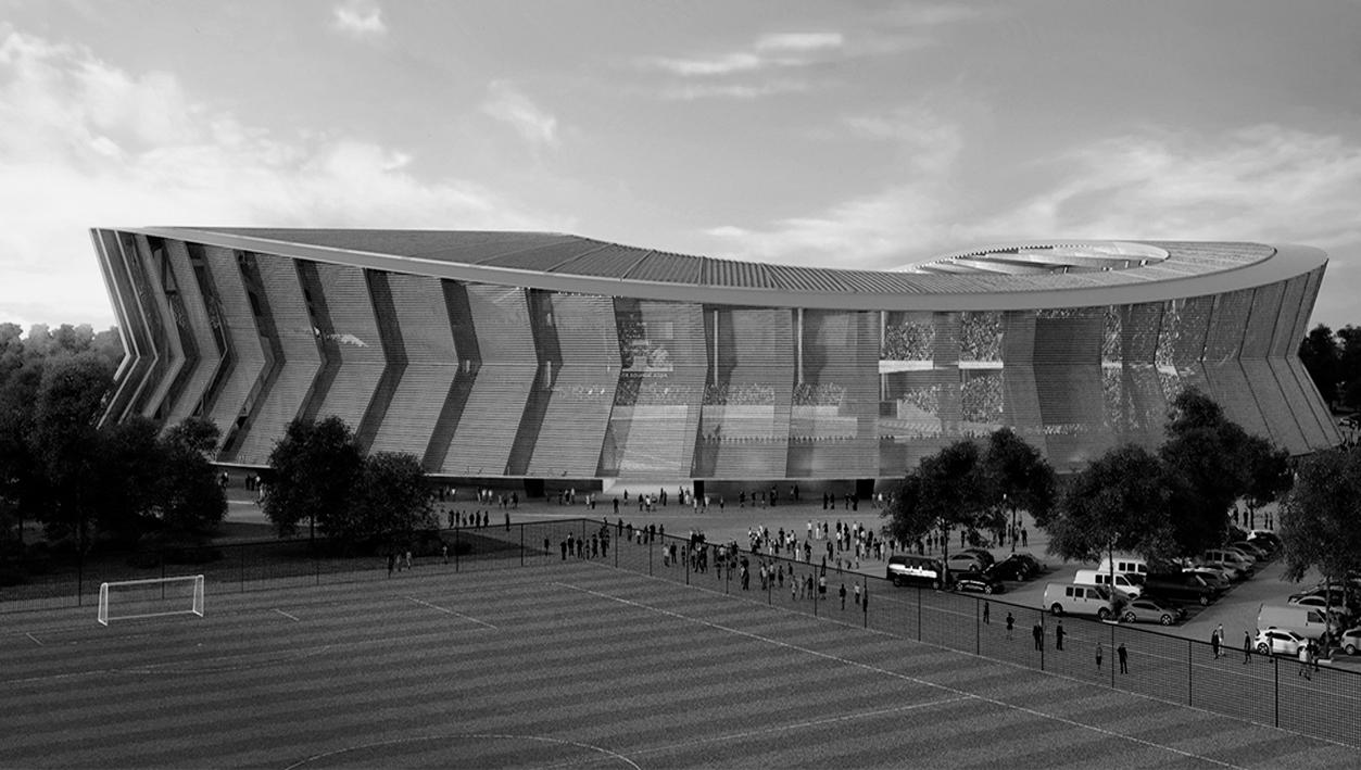 DVM presente no projeto de reabilitação do estádio Roumdé Adjia